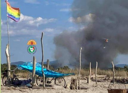 Toscana: Oggi 05/09 incendio boschivo a Torre delLago