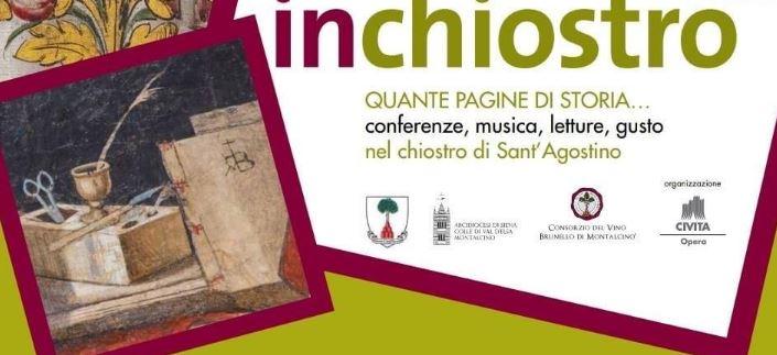 """Provincia di Siena: Montalcino, nuovo appuntamento con la rassegna""""InChiostro"""""""