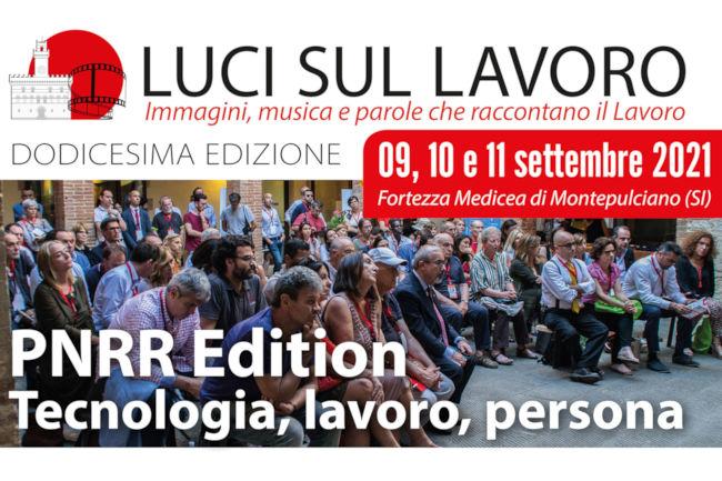 """Provincia di Siena: """"Luci sul Lavoro"""", grande partecipazione a Montepulciano anche per l'edizione 2021"""