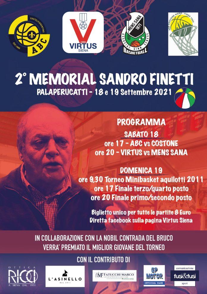 Siena: Il 18 e 19 settembre al PalaPerucatti la seconda edizione del MemorialFinetti