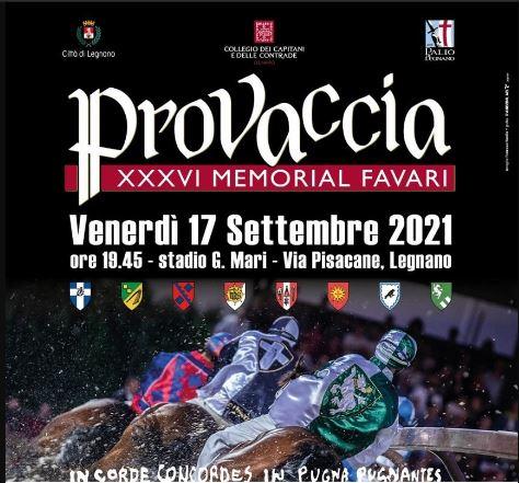 Palio di Legnano: Oggi 17/09 Memorial Favari in finale San Domenico, San Martino, San Bernardino e Sant'Ambrogio