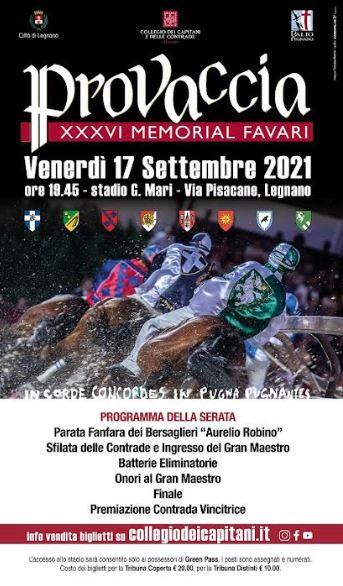 Palio di Legnano:  Provaccia 2021 XXXVI Memorial Favari 17settembre