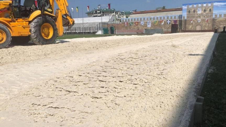 Palio di Legnano, La sabbia è arrivata al Campo: Si corre verso ilPalio