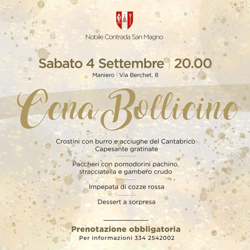 """Palio di Legnano, Contrada San Magno: 04/09 """"Cena Bollicine"""""""