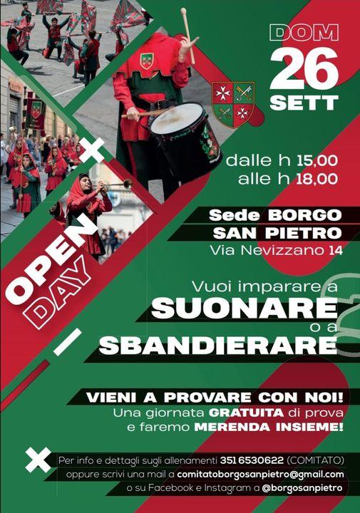 Palio di Asti, Rione San PietrO: 26/09 Open Day Musici eSbandieratori