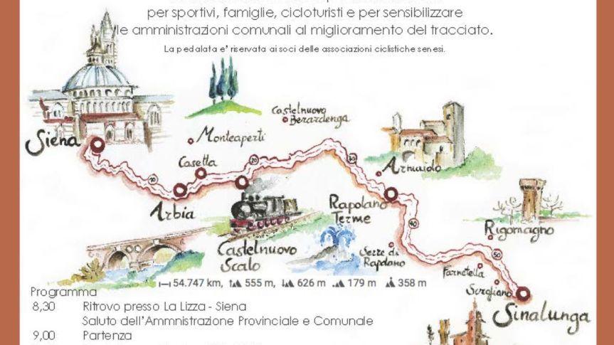 """Siena, """"SiconnetteSi"""": In bici da Siena a Sinalunga per proporre un percorsosicuro"""