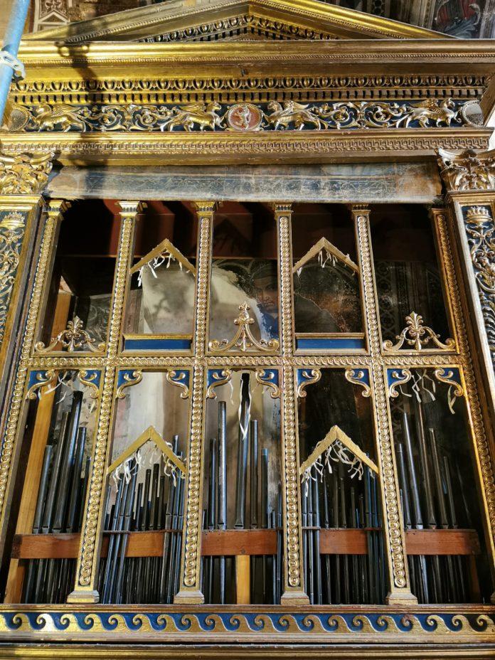 Siena: Museo Civico, intervento di manutezione e restauro sull'organo di PalazzoPubblico