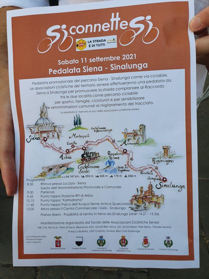 """Siena, Siena – Sinalunga, una pedalata per migliorare il tracciato. Tirelli: """"Sicurezza temafondamentale"""""""