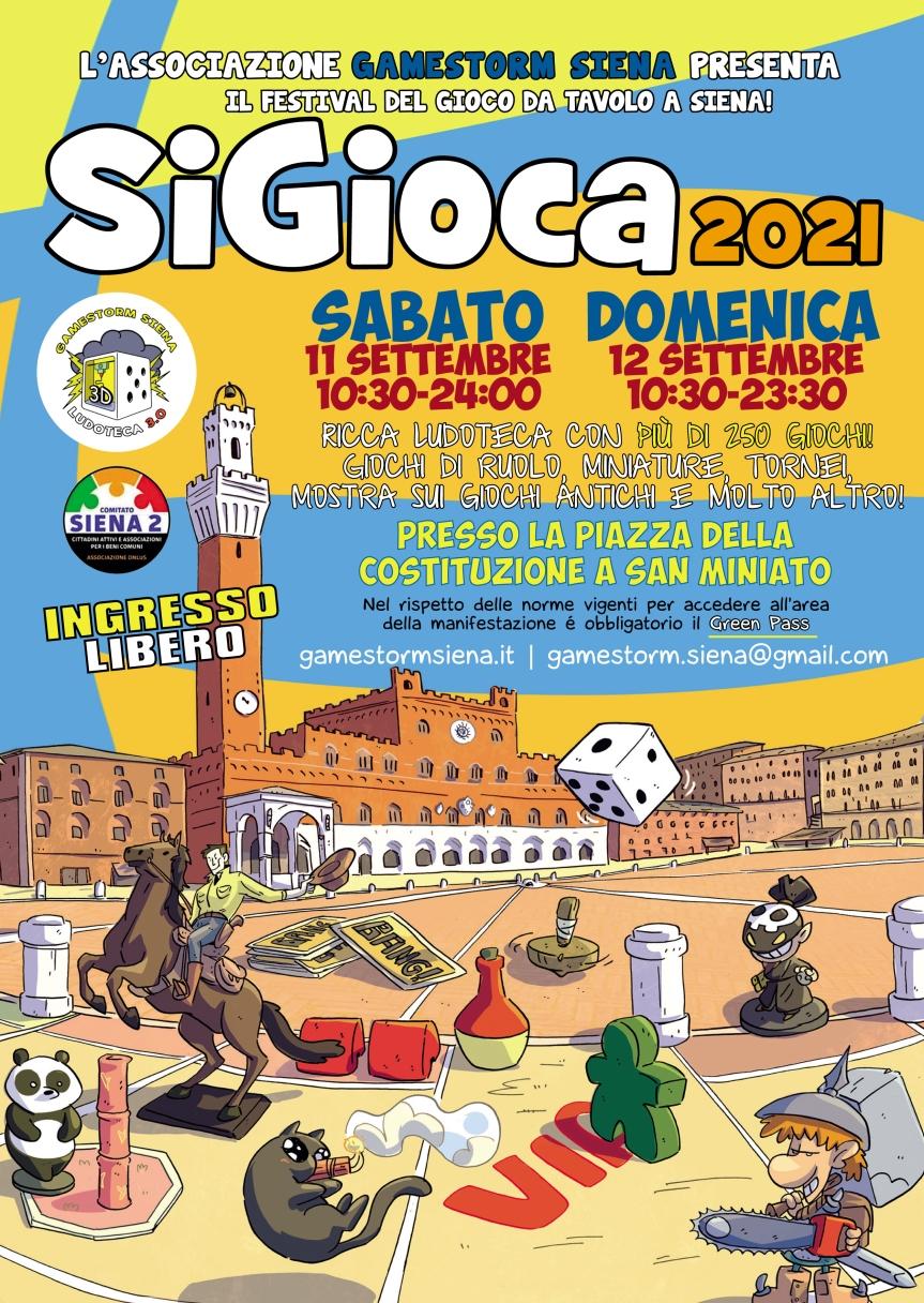 """Siena: Torna """"SiGioca2021"""", due giorni ricchi di eventi e diattività"""