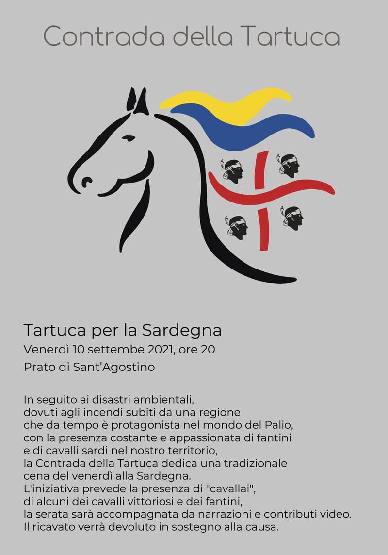 Siena: La Contrada della Tartuca omaggia la Sardegna con una cena aSant'Agostino