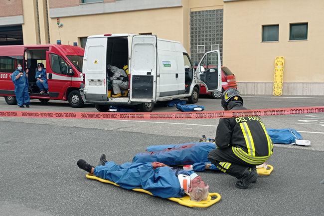 Siena: Trasporto di sostanze pericolose, stamani l'esercitazione dei Vigili delFuoco