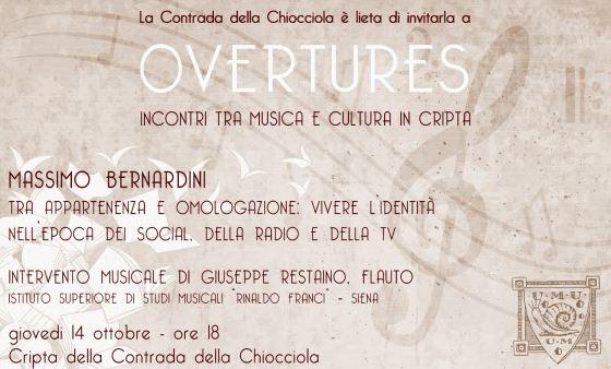 Siena, Contrada della Chiocciola: Overtures – giovedì 14ottobre