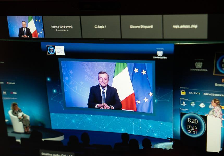 Italia: Il Presidente Draghi interviene al SummitB20