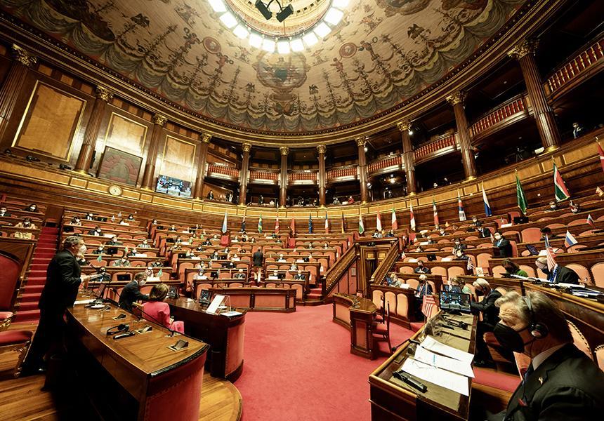 Italia: Il Presidente Draghi alla 7ª Conferenza dei Presidenti dei Parlamenti dei Paesi delG20