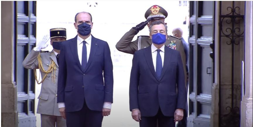 Italia: Il Presidente Draghi incontra il Primo Ministro della RepubblicaFrancese