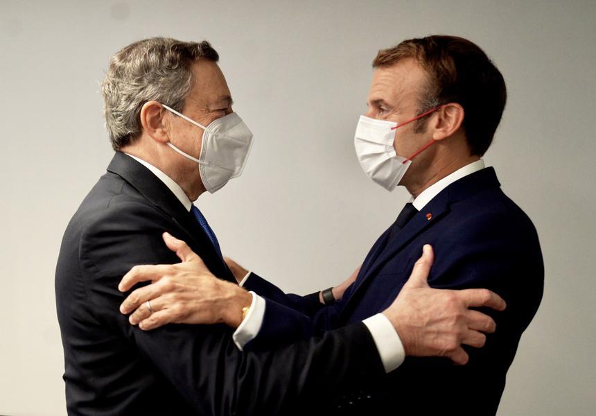 Italia: Tête-à-tête tra il Presidente Draghi e il PresidenteMacron