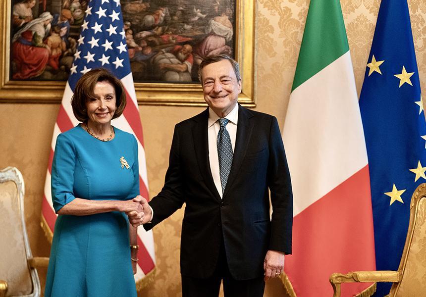 Italia: Il Presidente Draghi incontra la Speaker della Camera dei Rappresentanti degli StatiUniti
