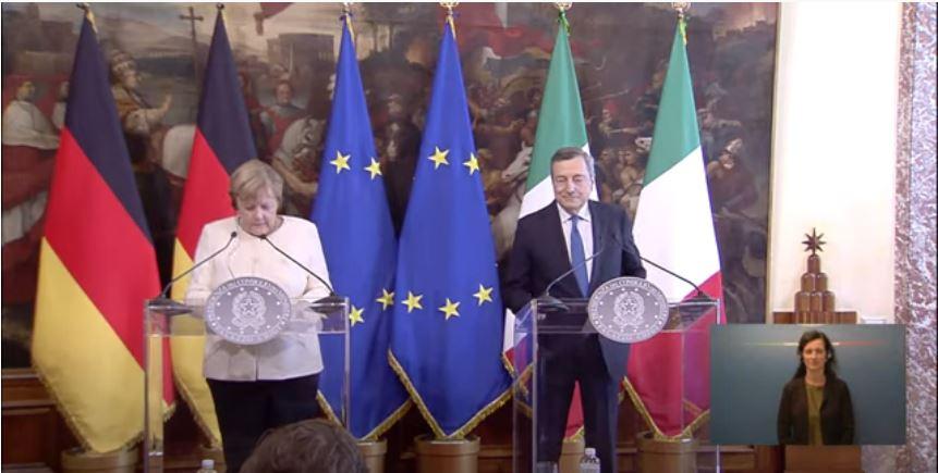 Italia: Il Presidente Draghi incontra la CancellieraMerkel