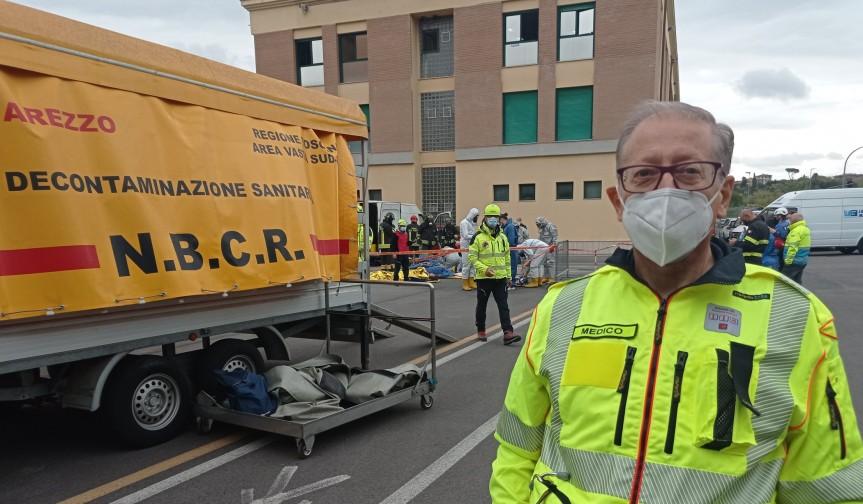 Siena,  Esercitazione 118 dell'Asl Toscana sud est-Vigili del Fuoco: Simulato un incidente con fuga di materialeradioattivo