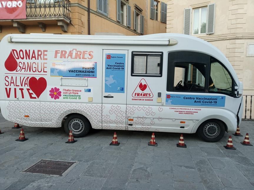 Provincia di Siena: Chianciano Terme, domani 20 ottobre arriva il camper vaccinale dell'Asl ToscanaSE