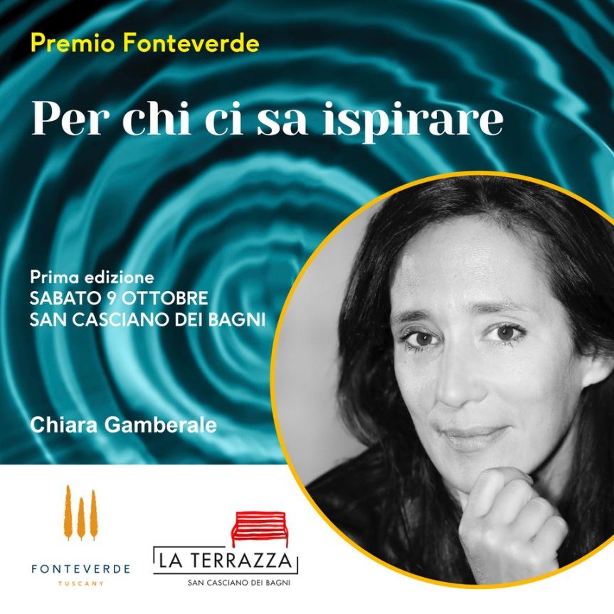 Provincia di Siena, San Casciano dei Bagni: Il Premio Fonteverde a ChiaraGamberale