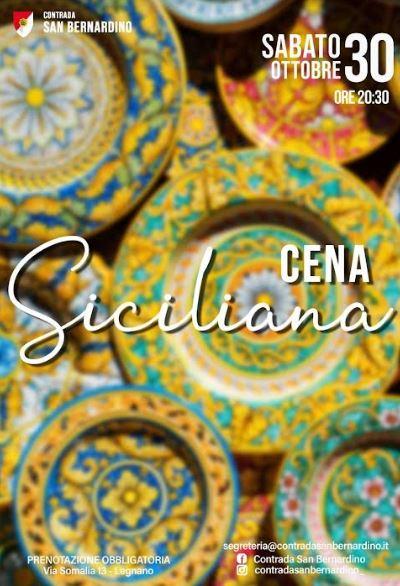 palio di legnano, Contrada San bernardino: 30/10 Cena Siciliana, Simone Gorletti nuovoGonfaloniere