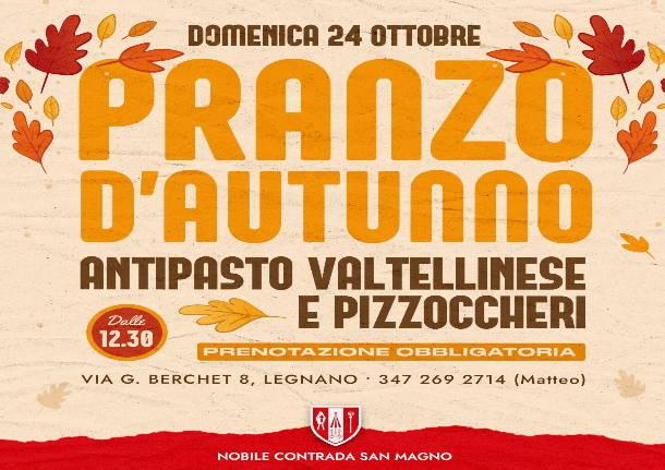 """Palio di Legnano, Contrada San Magno: 24/10 """"Pranzo d'autunno"""" almaniero"""