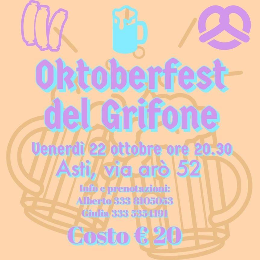 Palio di Asti, Borgo Santa Maria Nuova: 22/10 Oktober Fest delGrifone