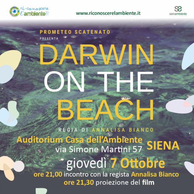 """Siena: """"Darwin on the beach"""", domani giovedì 7 ottobre la proiezione alla Casadell'Ambiente"""