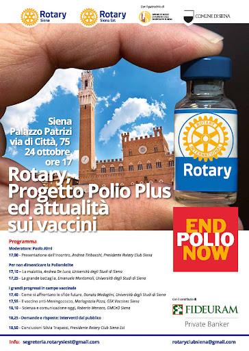 Siena, Giornata mondiale della Polio: Il Rotary Club Siena, Siena Est e Montaperti incontrano Toscana LifeSciences