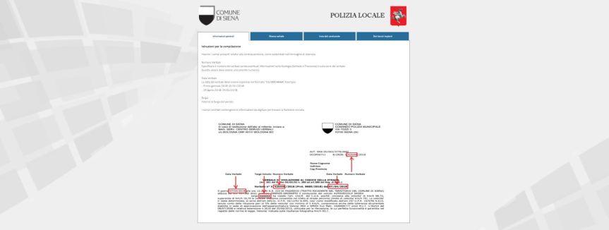 Siena, Polizia Municipale: Comunicazione dati del conducente esclusivamente con il servizio online