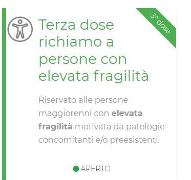 Toscana: Elevata fragilità, terza dose prenotabile sul portale dellaRegione