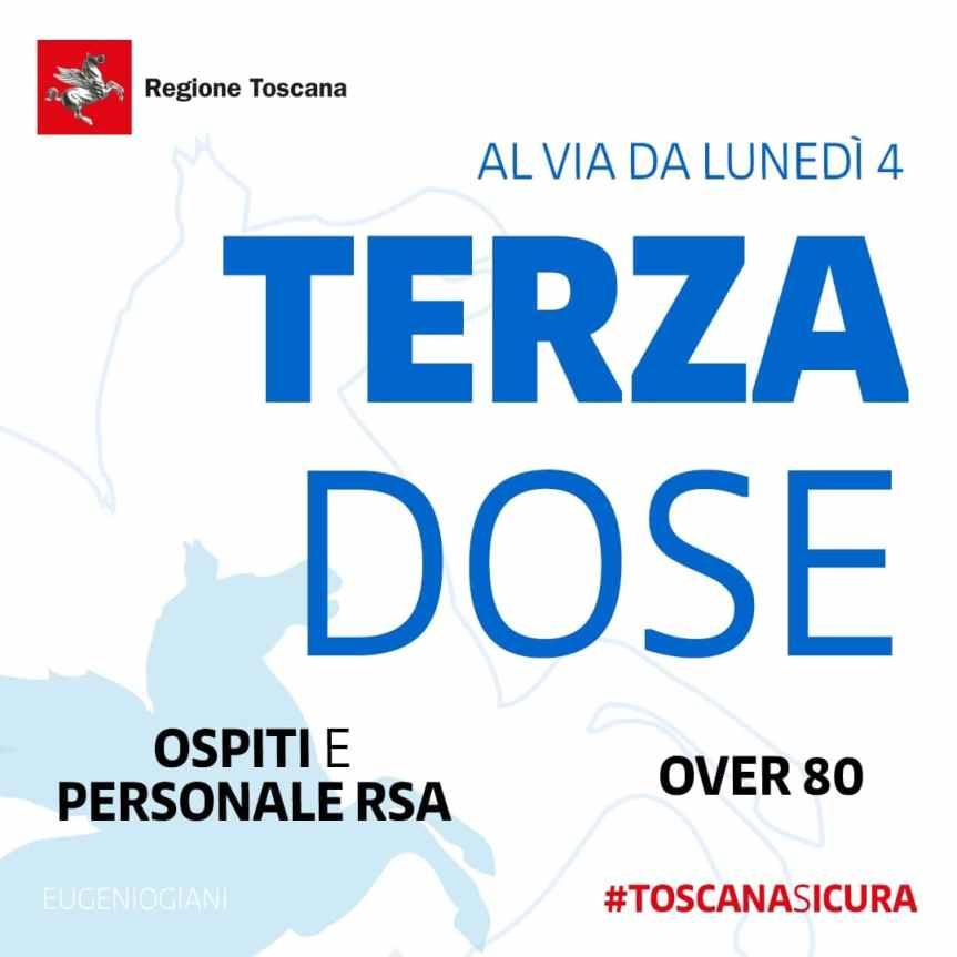 Toscana: Terza dose al via dal 4 ottobre per RSA e over80